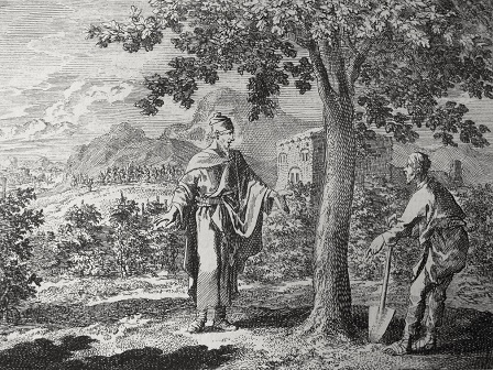 Johannes Luyken, The parable of the fig tree (1700)