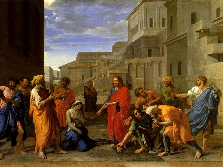 Nicolas Poussin, Christ and the Woman Taken in adultery (1653)